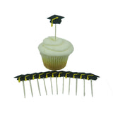Graduation Cupcake Toppers - Set of 12 Graduation Cap Decorations - Embellish by Jackie