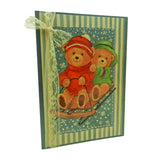 Christmas Cards - Bears - 3 Pack - Recycled - Upcycled - Handmade - Embellish by Jackie
