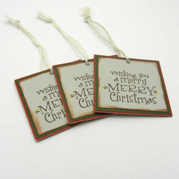 Christmas Tags - 3 Pack - Handmade - Recycled - Upcycled - Embellish by Jackie