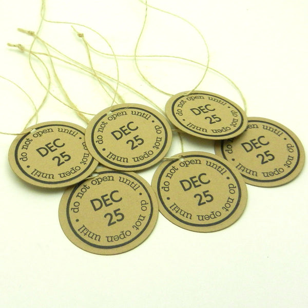 Christmas Tags - Do Not Open until Christmas - Kraft - 6 Pack - Embellish by Jackie