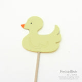 Duck Cupcake Topper - Set of 12 - Yellow Duck - Rubber Duckie - Ducky Baby Shower Decor Duckie Theme Party Cupcake Toppers Cake Topper