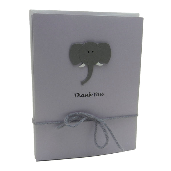 Elephant Baby Thank You Cards Purple 10 Pack Baby Shower Thank You Notes - Embellish by Jackie