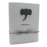 Elephant Baby Thank You Cards White 10 Pack Baby Shower Thank You Notes - Embellish by Jackie