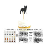 Dog Cupcake Toppers Set of 12 | 200+ Dog Breeds to Choose from | 25 Dog Colors Available | Handmade Cake Topper