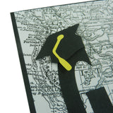 Handmade Black Go Far Map Graduation Greeting Card | Graduate Congratulations Card | Graduation Cap - Embellish by Jackie