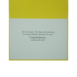 Go Far Handmade Graduation Greeting Card | Yellow US Map Grad Gift | Graduation Cap Congratulations - Embellish by Jackie