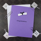 Purple Diploma Graduation Card New Graduate Congratulations Grad Card for Graduation Gift College