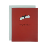 Red Graduation Congratulations Card | Handmade Graduation Notecard | Grad Cap | Single or 10 Pack - Embellish by Jackie