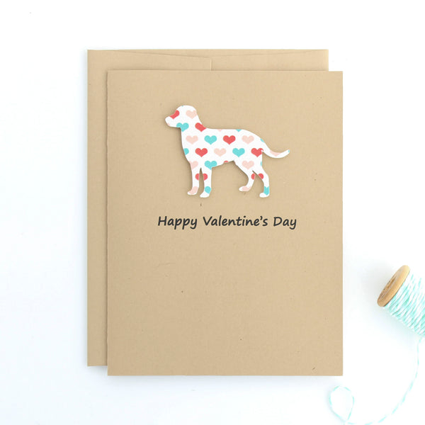 Labrador Retriever Valentine's Day Cards - Lab Heart Patterned Single Card or 10 Pack Dog - Embellish by Jackie