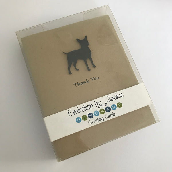 Chipin Thank You Card 10 Pack - Handmade Black Dog