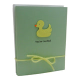 Baby Shower Invitations - Yellow Ducky - Handmade - 10 Pack - Embellish by Jackie