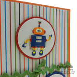 Robot Invitation - Birthday Invitation - 10 Pack