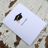 White Graduation Invitations Pack of 10 Graduation Cap - Embellish by Jackie