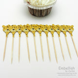 Leopard Cupcake Toppers - Set of 12 - Embellish by Jackie
