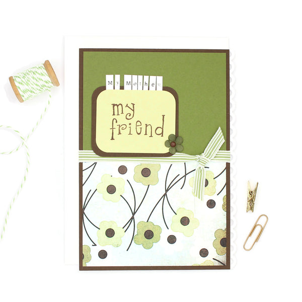 Mothers Day Card | Floral Mother's Day Card | Handmade Card for Mother | My mother My friend