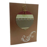 Handmade Ornament Christmas Greeting Card Bronze with Envelope Tis the Season
