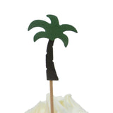 Palm Tree Cupcake Toppers Set of 12 Party Decoration Cupcake Topper Hawaiian Party Cake Topper Birthday Party Tropical Décor Beach Theme