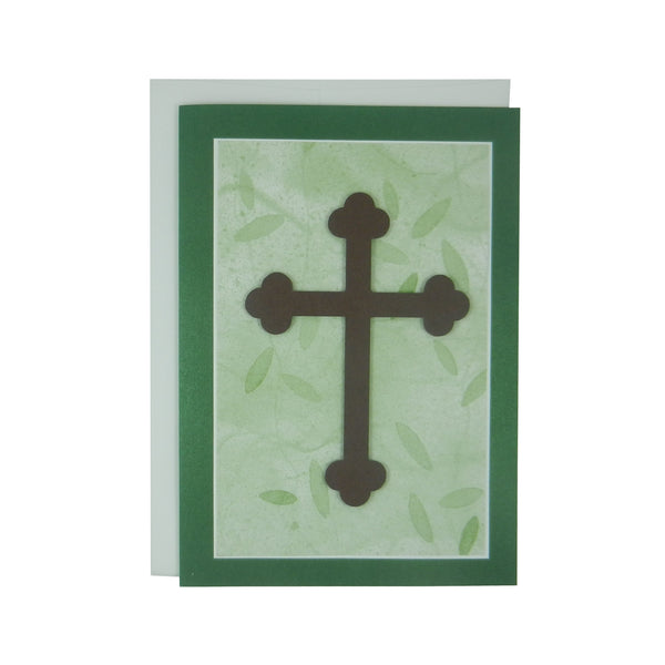 Handmade Religious Cross Card Blank Card Religious Gift Crucifix Catholic Cross First Communion Card Baptism Card Confirmation Card - Embellish by Jackie