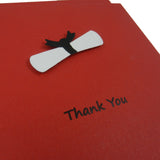 Red Graduation Thank You Notes Pack of 10 Graduation Cap and Diploma Graduation Thank You Cards Set Graduation Cards Grad Thank You Card