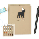 French Bulldog Birthday Cards | Handmade Frenchie Birthday Greeting Card | Single Card or 10 Pack