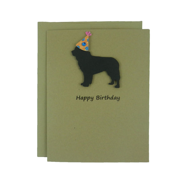 Newfoundland Dog Birthday Card Pet Birthday Newfie Dog Cards Pet Birthday Card Birthday Dog