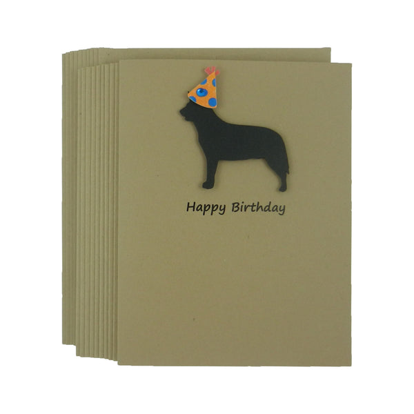 Australian Cattle Dog Birthday Card Pet Birthday Dog Cards 10 Pack - Embellish by Jackie
