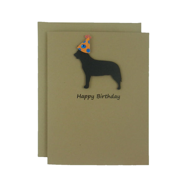 Australian Cattle Dog Birthday Card Pet Birthday Dog Cards Pet Birthday Card Birthday Dog Party