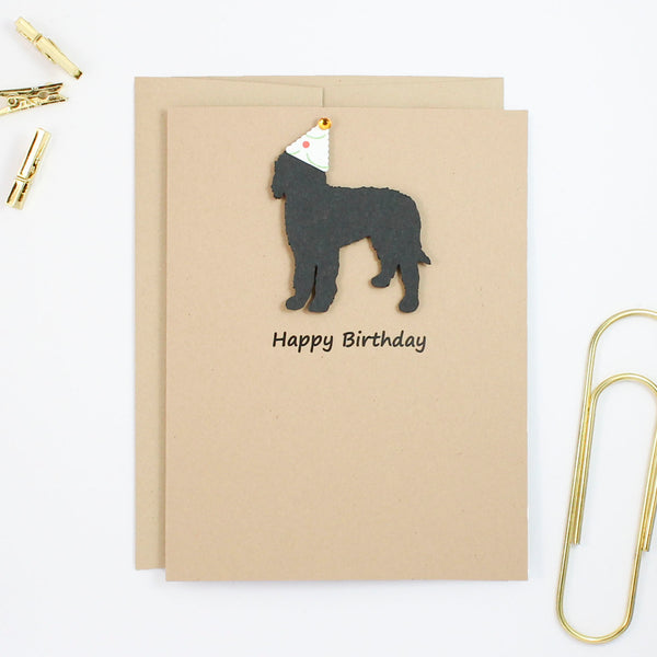 Bernedoodle Birthday Card | Handmade Labradoodle Greeting Cards| Single or 10 Pack | Choose Inside