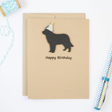 Golden Retriever Birthday Card | Handmade Black Dog Cards | Single or 10 Pack | Choose Inside
