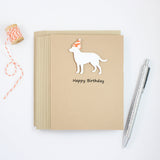 White Labrador Retriever Birthday Cards - Handmade White Lab Birthday Greeting Card