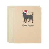 Chihuahua Christmas Cards | Handmade Black Dog Holiday Notecard | Single or 10 Pack | Pick phrases