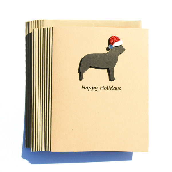 Australian Cattle Dog - Cattle Dog Christmas Cards with Santa Hat 10 Pack