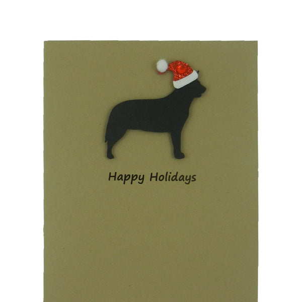 Australian Cattle Dog - Cattle Dog Christmas Cards with Santa Hat 10 Pack - Embellish by Jackie