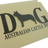Australian Cattle Dog Greeting Card Black Dog Card 10 Pack of Cards Set of Cards - Embellish by Jackie
