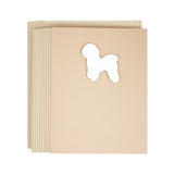 Bichon Frise Blank Cards | Handmade White Dog Notecards | Single Card or 10 Pack | Pet Lover Gift