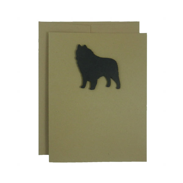 Schipperke Blank Dog Greeting Card | Notecards | Single Card or 10 Pack | with Envelopes | Black Dog - Embellish by Jackie