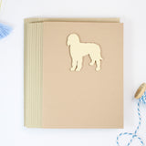 Goldendoodle Blank Dog Greeting Cards | Handmade Labradoodle Notecard | Single or 10 Pack Yellow Dog