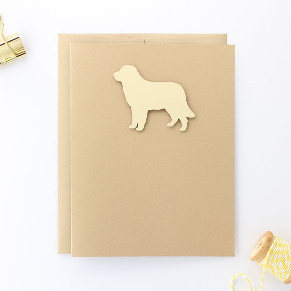 Golden Retriever Blank Dog Greeting Cards | Handmade Yellow Dog Notecard | Single or 10 Pack