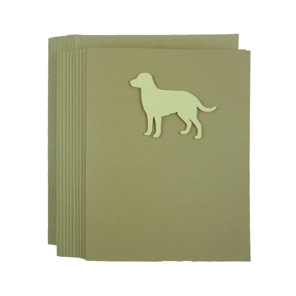 Yellow Labrador Retriever Blank Cards 10 Pack Handmade Yellow Lab Dog Kraft Note Cards - Greeting Card British Lab