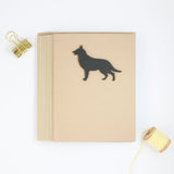 German Shepherd Blank Greeting Cards 10 Pack or Single Card | Handmade Black Dog Notecards - Embellish by Jackie