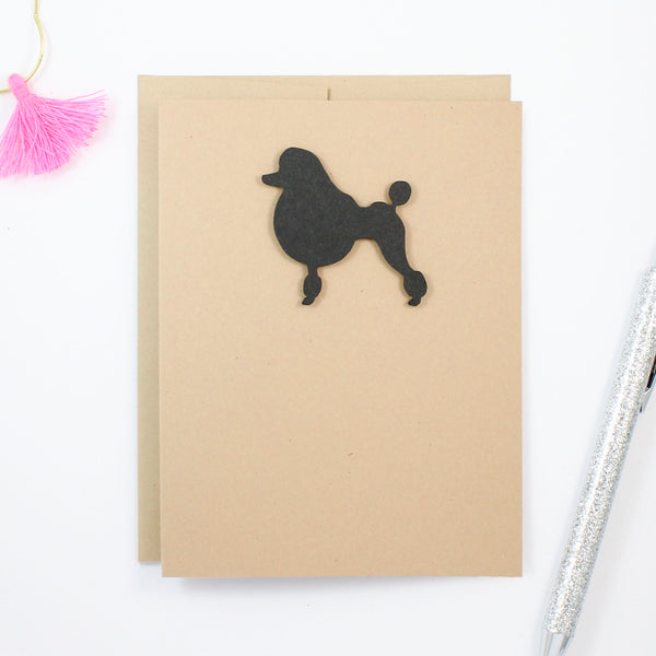 Poodle Blank Greeting Card | Handmade Notecards Single - 10 Pack Toy Miniature Standard Continental