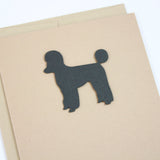 Poodle Blank Greeting Card | Dog Notecards | Single - 10 Pack | Toy Miniature Standard Sporting Clip
