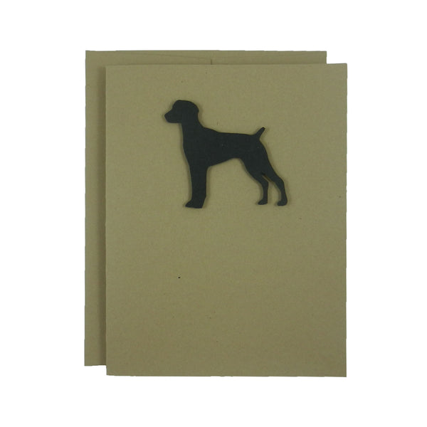 German Shorthaired Pointer Blank Notecards | Dog Greeting Card | Single Card - 10 Pack | Kraft Brown - Embellish by Jackie