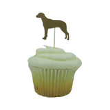 Rhodesian Ridgeback Dog Cupcake Topper Set of 12 Black or Brown Dog Cupcake Toppers Pet Decorations Pet Birthday Party Decorations Pet Party
