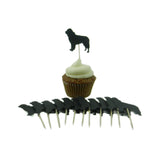 Newfoundland Cupcake Topper Set of 12 Black Newfie Dog Cupcake Toppers Pet Decorations Pet