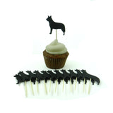 Australian Cattle Dog Cupcake Topper Set of 12 Black Cattle Dog Cupcake Toppers Pet Decorations - Embellish by Jackie