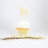 Goldendoodle Cupcake Toppers Set of 12 | Labradoodle Party Decorations | Yellow Dog Birthday Decor