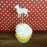 White Labrador Retriever Cupcake Topper Set of 12 | White Lab Birthday Party Decor | Cake Topper - Embellish by Jackie