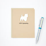 Westie Sympathy Card | Single Card or 10 Pack | White Dog Condolences Cards | Choose Inside | West Highland White Terrier