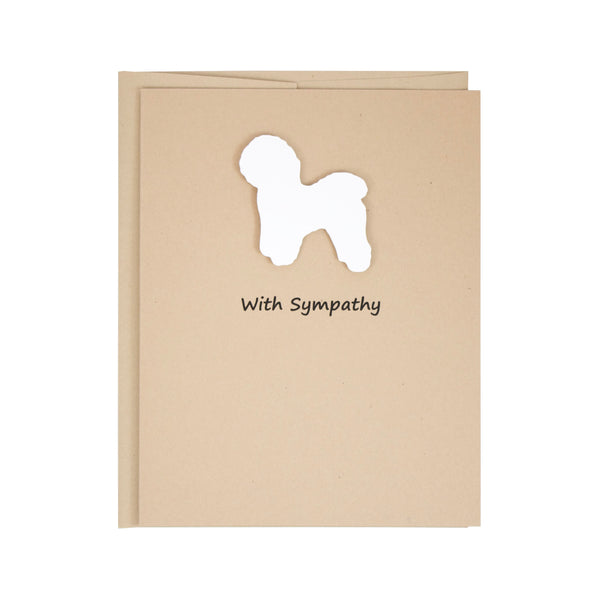 Bichon Frise Sympathy Card | Single Card or 10 Pack | White Dog Condolences Cards | Choose Inside